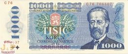CZECHOSLOVAKIA 1000 KORUN 1985 PICK 98a UNC - Czechoslovakia