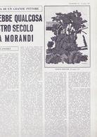 (pagine-pages)GIORGIO MORANDI    L'europeo1957/595. - Books, Magazines, Comics
