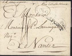 Lettre De L'Echelle De Jacob St Domingue 1785 Pour Nantes Marque D'entrée Colonies Par Rochefort Bateau Double Alliance - Entry Postmarks
