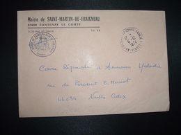 LETTRE MAIRIE SAINT MARTIN DE FRAIGNEAU OBL.6-12 1974 85 FONTENAY LE COMTE ANNEXE 1 VENDEE - Marcofilia (sobres)