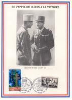 """"""" DE GAULLE : DE L'APPEL DU 18 JUIN A LA VICTOIRE """" Sur Encart Commémoratif De 1984.Parfait état. - De Gaulle (General)"""