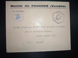 LETTRE MAIRIE OBL. HEXAGONALE 10-10 1966 FOUGERE VENDEE (85) - Marcofilia (sobres)