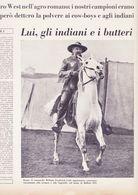 (pagine-pages)BUFFALO BILL A ROMA   L'europeo1956/543. - Libros, Revistas, Cómics