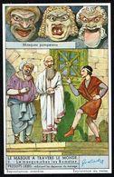 LIEBIG - FR - 1 Chromo N° 2 - Reeks/série S.1479 - LE MASQUE A TRAVERS LE MONDE - Chez Les Romains. - Liebig