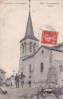 CPA 63 @ VILLOSANGES En 1909 - L'Eglise Animée - Vélo @ Editeur VDC N° 3466 - Sonstige Gemeinden