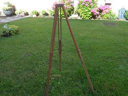 Pied En Bois Pour Appareil Photo Ou Autre - Art Populaire