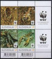 2011 Slovenia 904-907VB+Tab WWF / Sea Fauna - W.W.F.