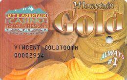 Ute Mountain Casino - Towaoc CO - Slot Card - Embossed Name - Cartes De Casino