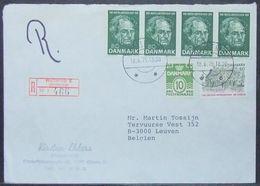 Denmark - Registered Cover To Belgium 1975 Andersen Fairy Tale Hellerup - Briefe U. Dokumente