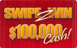 Wild Wild West Casino - Las Vegas, NV - Swipe 2 Win $100,000 Cash (think Plastic Contest Card) - Cartes De Casino