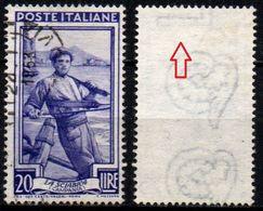 Italia Al Lavoro Con Filigrana Lettere - 20 Lire Ruota 3° DB - 1946-.. République