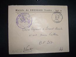 LETTRE MAIRIE OBL.31-10 1964 FOUSSAIS VENDEE (85) - Marcofilia (sobres)