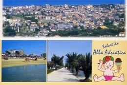 Saluti Da Alba Adriatica - Teramo - Formato Grande Viaggiata – E 16 - Teramo