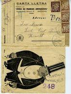 ESPANA  RARA CARTA LLETRA FOYER DU FRANCAIS De LIBRILLAS Hasta Francia     ELA159 - 1931-Today: 2nd Rep - ... Juan Carlos I