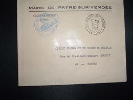 LETTRE MAIRIE PAYRE SUR VENDEE OBL.11-2 1969 85 FOUSSAIS-PAYRE VENDEE - Marcofilia (sobres)