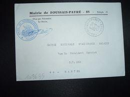 LETTRE MAIRIE OBL.25-9 1969 85 FOUSSAIS-PAYRE VENDEE - Marcofilia (sobres)