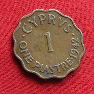 Cyprus 1 One Piastre 1942 KM# 23a Chipre Chypre Cipro Zypern - Chypre