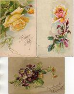 C Klein - Lot De 3 Cartes Rose Violette, Mauvais état - Klein, Catharina