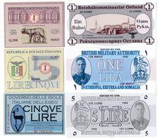 Fantasy Historic Lot 6 Banknotes - Banknoten