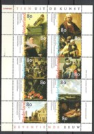 NETHERLANDS NVPH 1826/1835 In Sheet **  Dutch Paintings Of The 17th Century - Unused Stamps