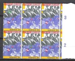 NEDERLAND Plaatfouten NVPH 1183P1 En 1183P2 ** In Blok Van 6 - Variétés Et Curiosités