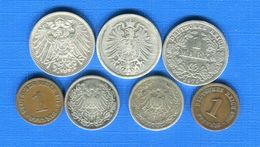 All  7  Pieces - [ 2] 1871-1918 : Empire Allemand