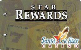 Santa Ana Star Casino - Santa Ana Pueblo, NM - BLANK 3rd Issue Slot Card - ACC Upper Right Reverse - Cartes De Casino