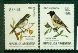 ARGENTINA 1974 Mi 1171-72** Birds [A6158] - Songbirds & Tree Dwellers