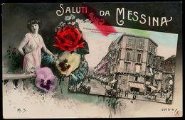 MESSINA - SALUTI DA MESSINA - LIBERTY - Messina