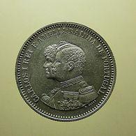 Portugal 200 Reis 1898 4º Centenário Da Descoberta Da India Silver - Portugal