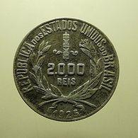 Brazil 2000 Reis 1925 Silver - Brasilien