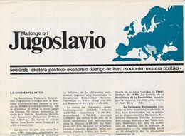 Brochure About Yugoslavia - Published In 1973 - Text In Esperanto - Dépliants Touristiques