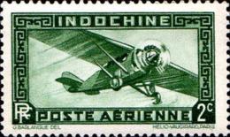 Indochine Avion N* Yv: 2 Mi:185 Monoteur (Trace De Charnière) - Poste Aérienne