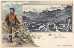 MERAN-MERANO-SUD TIROL-GEGEN VINTSCHGAU-BELLISSIMA CARTOLINA A RILIEVO-NON VIAGGIATA-ANNO 1905-1910 - Merano