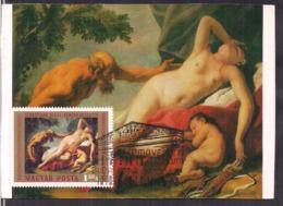 Magyar Posta - 1970 - Carte Maximum - Vénus Surpris Par Un Satyre - Cygnus - Nudes