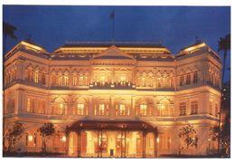 (B 6) Singapore Raffles Hotel At Night - Singapour