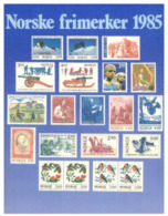 (B 6) Norwaty -  1985 Stamps On Postcard - Stamps (pictures)