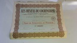 LES HEVEAS DE COCHINCHINE (1925) - Hist. Wertpapiere - Nonvaleurs