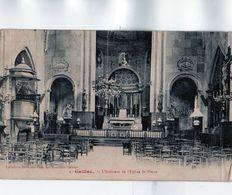 GAILLAC: Beau Cliché De L'Intérieur De L'église St Pierreen 1914,éditeur Grand Bazar Des Nlles Galeries.tbe - Gaillac