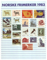 (B 6) Norway - 1983 Stamps Issue On Postcard - Stamps (pictures)