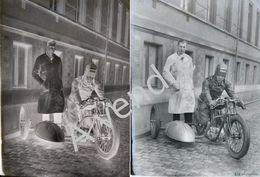 """Négatif Plaque De Verre """"Fabrique Nationale"""" Moto Ancêtre Herstal - Plaques De Verre"""