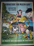 """Affiche 1951 """" Jeunesse Au Plein Air """" H. MONIER - Timbres Colonies De Vacances - Posters"""