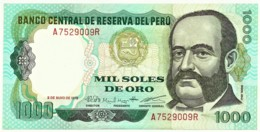 Peru - 1000 Soles De Oro - 03.05.1979 - Unc. - Pick 118.b -  Serie A - Miguel Grau - Peru