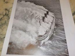 AFFICHE PHOTO PAQUEBOT L ATLANTIQUE EN FEU 1933 - Boten