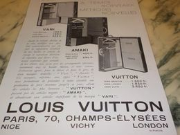 ANCIENNE PUBLICITE TEMPS NOUVEAUX MALLE LOUIS VUITTON  1933 - Advertising