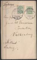"Danemark - Bande D'imprimé Affr. 10ö Càpt ""CHARLOTTENLUND/31.1.1900"" Pour VALKENBURG (Pays-Bas) (au Dos: Càd Valkenburg) - Briefe U. Dokumente"