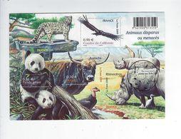 BF 128 Série Nature Animaux Disparus Ou Menacés D'extinction Oblitéré 1er Jour 2009 - Sheetlets