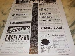ANCIENNE PUBLICITE  L ETE  EN SUISSE  1933 - Advertising