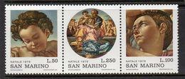 1975San Marino1102-1104stripArtist / Michelangelo Buonarroti - Otros