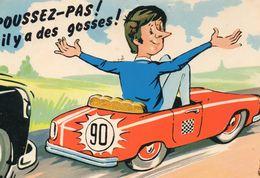 Humour Voiture Au Volant Accident Conducteur Chauffard Limitation De Vitesse - Humour